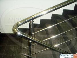 Изготовление и монтаж лестничных ограждений из нержавейки