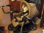 коляска трехколесная+игрушка апельсин+комбинезон зимний