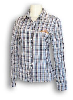 Рубашка клетчатая с вышивкой