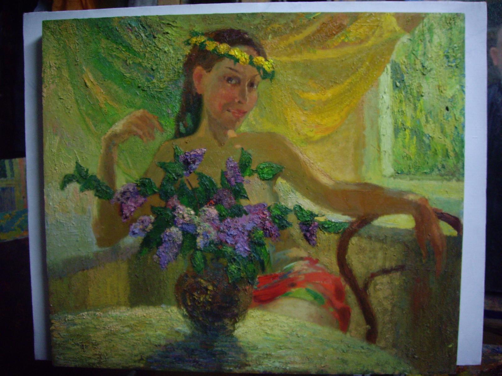 картина весна 60х70