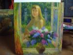 картина Девушка с сиренью 80х90