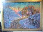 картина Зимний вечер 50х70