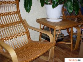 Плетеная мебель-2-а кресла и журнальн. столик.