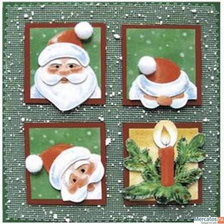 """Набор для изготовления новогодней открытки """"С Новым годом!"""" - купить в Москве в интернет магазине. Набор для изготовления нового"""