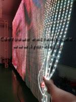 Гибкая светодиодная видео сетка, гибкий LED экран, светодиодный