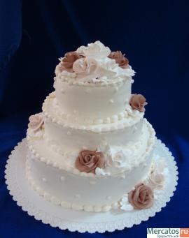 Праздничные, свадебные, детские торты на заказ от 585 руб. за кг