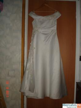 Великолепное свадебное платье (р-р 48-50,рост158,а - силуэт) 4.