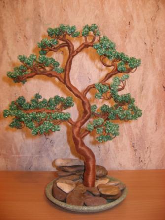 Дерево из бисера Бонсай.
