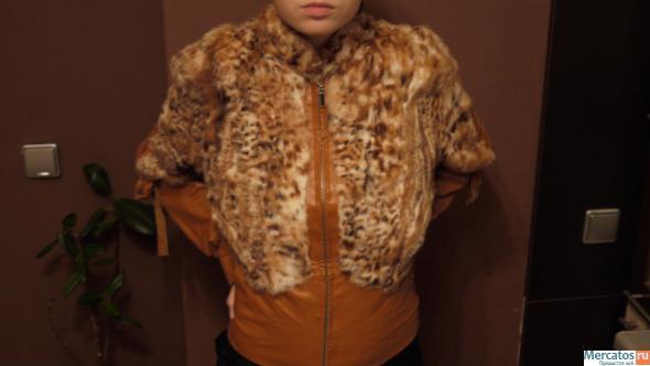 Кожаная куртка с мехом рыси Санкт-Петербург.