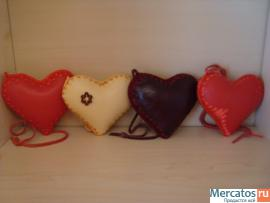 Сувенир-сердца ( кожаные )