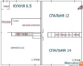 продается 3-х комнатная , 2 двухуровневая двухэтажная